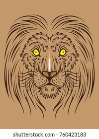 lion face graphic