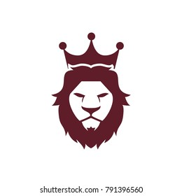 Lion face head icon vector logo, lion silhouette symbol logo, lion tattoo design illustration eps 10 eps 8