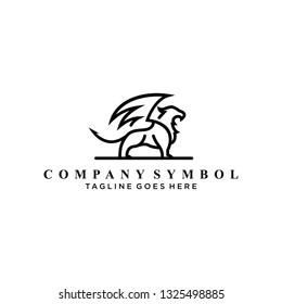 lion flay logo design