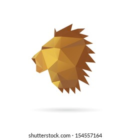 Lion head abstract isolated on a white backgrounds, vector illustration