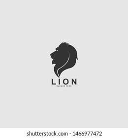 Lion Head Abstract logo icon designs illustration template.