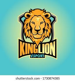 Lion Head Esport Logo Vector