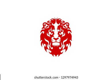 Lion Head with Fire Tattoo design