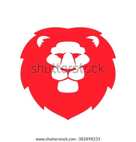 8a7e1abc09 Lion head flat vector logo. Animal design template elements for your  corporate identity or sport