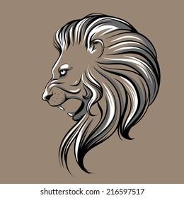 Lion head illustration
