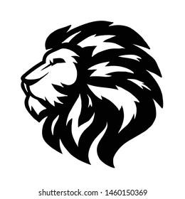 Lion head illustration logo vector template
