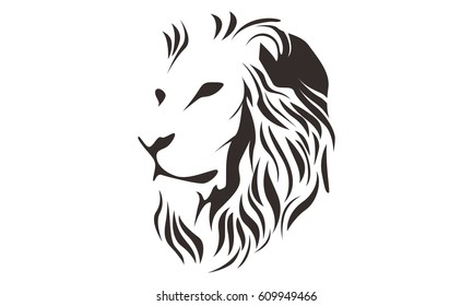 LION HEAD LINE ART DRAWING ILLUSTRATION