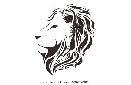 Line Drawing Of Lion : Lion head images stock photos vectors shutterstock