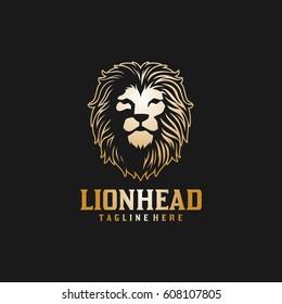 Lion Head Logo / Elegant Lion Face Vector