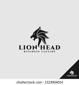 Lion Head Logo with simple and stylish design idea
