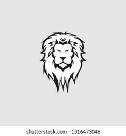 Lion head logo template vector