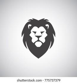 Lion Head Logo Vector Design Template