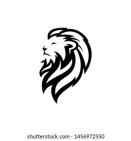 lion head logo vector icon download on white background