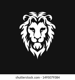 lion head logo vector icon illustration template