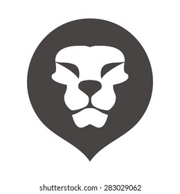 lion head logo vector. lion icon app. lion application template symbol. lion logo for your company. pride honor security symbol.