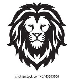 Lion Head Logo Vector Template Illustration Design Mascot