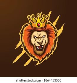 Lion Head mascot logo for eSport