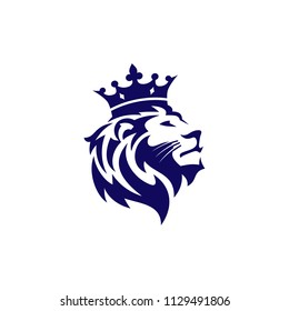 Lion Head Mascot Stock Vector