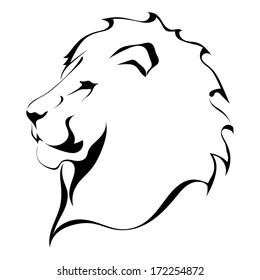 Lion Face Black White Images Stock Photos Vectors Shutterstock Modern outline sea lion logo concept on wh. https www shutterstock com image vector lion head on white background tattoo 172254872