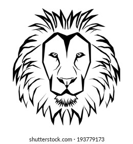 LION HEAD outline vector