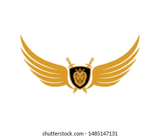 Lion Head Shield Wings Sword