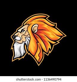 Lion head sport logo mascot