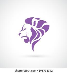 Lion head symbol - vector illustration