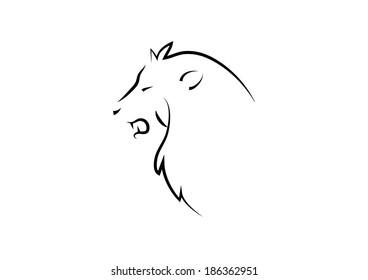Lion Head. Vector