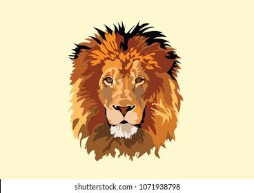 lion head vector art design