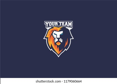 Lion head vector for esport gaming, lion angry esport, esport logo,
