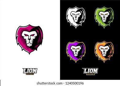 Lion head vector, esport logo lion, angry lion head