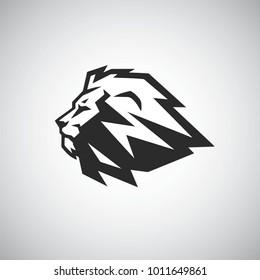 Lion Head Vector Icon Logo Template