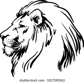 Lion Face Outline Images Stock Photos Vectors Shutterstock Men who want small and simple lion tattoos might pick a tribal design with black lines illustrating a creative perhaps you'd even prefer a lion outline tattoo on your wrist, hand or bicep. https www shutterstock com image vector lion head vector illustration 1017590263