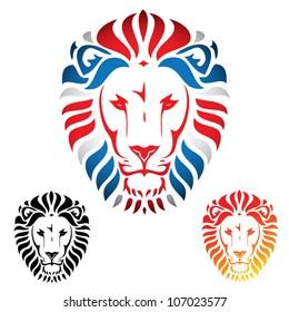 Lion head - vector illustration