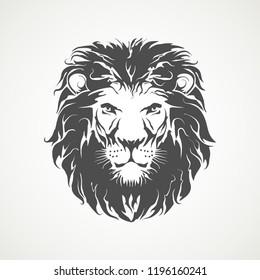 lion head vector illustration art