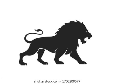 lion icon. isolated vector image for emblem and logo. courage, valor and power symbol