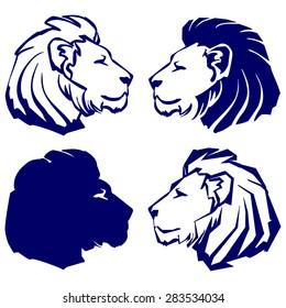 lion icon sketch collection cartoon vector illustration