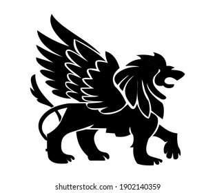 Lion  illustration with white background, logo