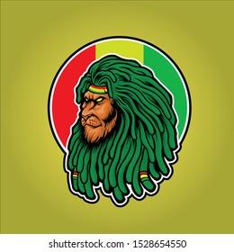 the lion jamaica illustration