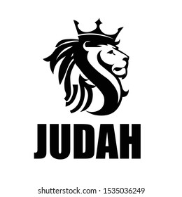 Lion of Judah, Christian faith, typography for print or use as poster, card, flyer or T Shirt