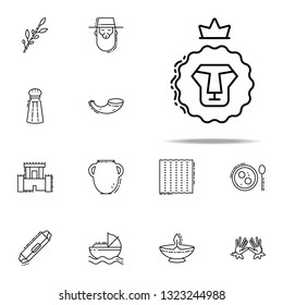 Lion of Judah icon. Judaism icons universal set for web and mobile