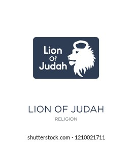 Lion of Judah icon. Trendy flat vector Lion of Judah icon on white background from Religion collection, vector illustration can be use for web and mobile, eps10
