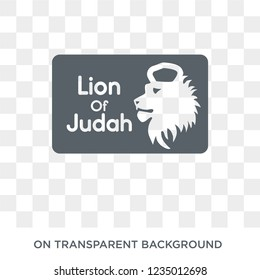 Lion of  Judah icon. Trendy flat vector Lion of  Judah icon on transparent background from Religion  collection.