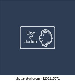 Lion of  Judah icon. Trendy flat vector line Lion of  Judah icon on dark blue background from Religion  collection.