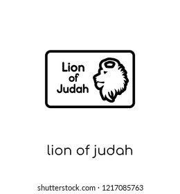 Lion of Judah icon. Trendy modern flat linear vector Lion of Judah icon on white background from thin line Religion collection, editable outline stroke vector illustration