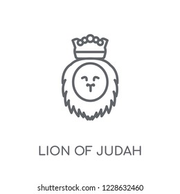 Lion of Judah linear icon. Modern outline Lion of Judah logo concept on white background from Religion-2 collection. Suitable for use on web apps, mobile apps and print media.
