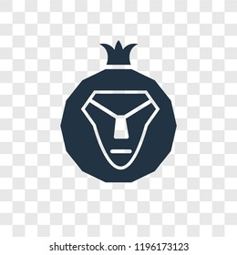 Lion of Judah vector icon isolated on transparent background, Lion of Judah transparency logo concept