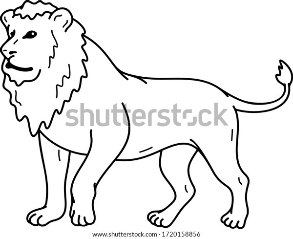 Lion King Beasts Vector Outline Icon Stock Vector Royalty Free 1720158856 If the king of animals could see this picture now, he would eat us for dinner. https www shutterstock com image vector lion king beasts vector outline icon 1720158856