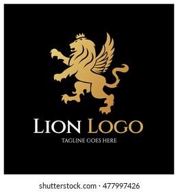 Lion King logo design template ,Lion Logo , Elements for brand identity ,Vector illustration