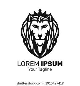 lion king mascot logo design vector.